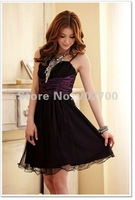 Женское платье 2012 lady fashion Elegant temperament bow pressure a sleeveless dress C8315 Holiday Sale
