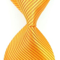 1 piece Free shipping mix order wholesales Golden Yellow Stripe Silk Classic Woven Man Tie Necktie , traditional silk tie-0109