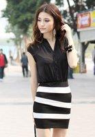 free shipping,2012 pink flower print summer dress,change fold dress ,fashionable dress,