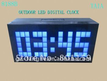 free shipping big screen display outdoor LED DIGITAL clock H8188B