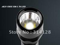 ANOWL AK25 CREE XM-L XML T6 LED FLASHLIGHT SINGLE MODE 1X18650/2X16340 BTY 1000LM CREE LED FLASHLIGHT