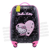"17"" inches heart kitty cat cartoon children suitcase,ABS hard shell trolley luggage/Pull Rod Travel trunk /traveller case box"