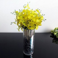 24pcs/Lot Artificial Dancing Lady Orchid Bouquet Silk Flowers Arrangement Wedding Home Decor ,Yellow,Wholesale,