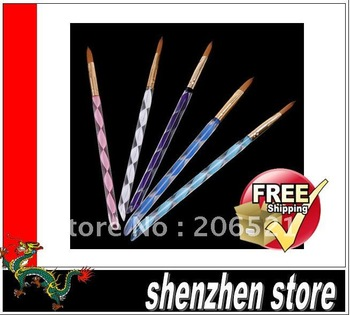 Nail art brush 5pcs/set free shipping 10lot of 5pcs