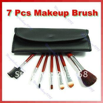 D19+7 PCS Makeup Brush Cosmetic Brushes Set Kit With Case