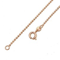 New 1.2mm Ball Beads Chain 18K Rose Gold Filled Necklace Solid Plated GP 00B012