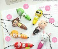 Free Shipping Cute Cartoon Wooden ballpoint pens,Stationery Ball Point Pen/Office&Study Ball Pen /kids gift