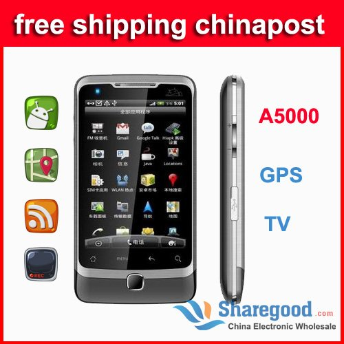 Android 2.3.6  MTK6575 mobile phone 3G GSM WCDMA lenovo A750  Touch screen capacitive cell phone  Wifi TV dual sim free shipping