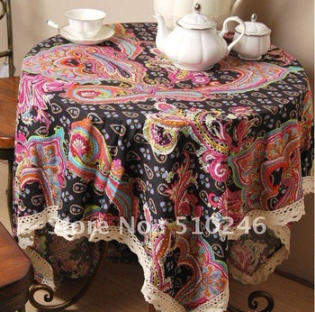 best selling 140*180cm classic  linen cotton printed home decoration hometextile desk table linen table cover tablecloth