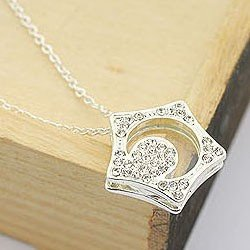 New korean wholesale cheap fashion  silver moon star pendant necklace sweater chain 12pcs/lot free shipping