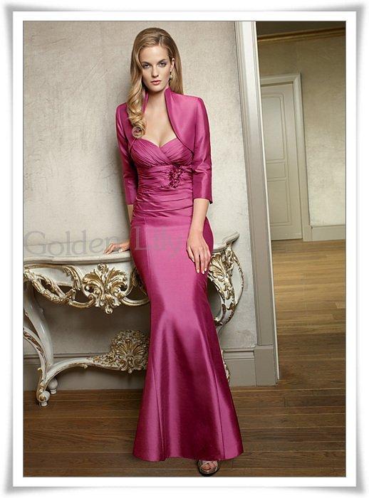 Free Shipping 100% Gurantee sexy Satin 3/4 long sleeve wedding jacket/women