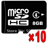 Lot of 10 New 8GB Class 4 MicroSDHC Micro SD MicroSD TF Flash Memory Card 8 GB+FREE SHIPPING