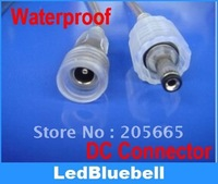 2-core waterproof DC plug,  waterproof DC line, LED connector, 20cm long each;male and female