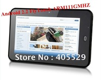 """Android 2.2 FlyTouch ARM11 1GMHZ table pc; 7""""TFT resistance touch screen MID free shipping!"""