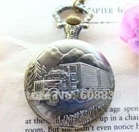 Pendant Pocket Watches New Arrivel Retro Watch Long Chain Necklace Truck Large Size Bronze Pocket Watch