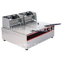 Electrical Fryer(EF-60D)/6+6 Lter/S.steel/Fast heatup/Oil tape type