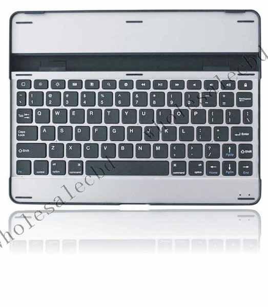 50pcs/lot Brand New promotion Metal Aluminum Alloy Bluetooth wireless keyboard for ipad 2(China (Mainland))