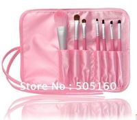 Makeup Brush Tools set tool Professional pink makeup brush 7 pcs set 0229 D