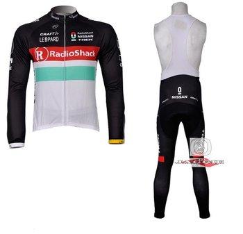 Free shipping+PAD+2012 radio shack Winter Fleece Thermal Long Sleeve bike clothing bicycle Jerseys Cycling Wear and BIB Pants