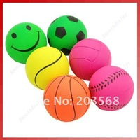 Pet Cat Dog Elastic Rubber Chews Round Ball Playing toy