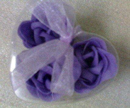 beautiful 3 Fragrant Rose Petal Soap Wedding Favor(China (Mainland))