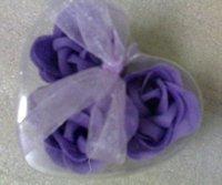 beautiful 3 Fragrant Rose  Petal Soap Wedding Favor