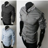 fashion men's thicken Jacket coat for slim fit, outwear warm trench with casual stylish, 3 Colors M-XL, 5619