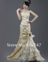 Bridal fishtail wedding boutique new 2012 luxury satin Bra