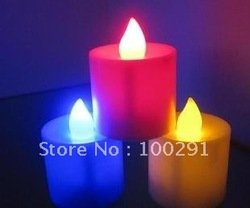 Free ship 20 FLICKER LIGHT FLAMELESS LED CANDLES NEW mini123(China (Mainland))