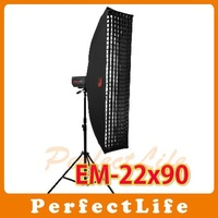"JINBEI EM-22x90cm Professional Strip Softbox with Honey comb grid 9"" x 35"" photographic equipment"