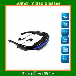 50inch Video glasses Eyewear Cinema Digital Mobile Theatre Hottest(China (Mainland))