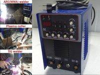 TOSENSE 2012 NEW 200A Pulse mma tig welder 50A plasma cutter 3 in 1 welding machine can aluminium is 520TSCP