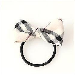 H010 Hair accessories for women Korean Style Butterfly Bow Check Hair Tie Band ring for hair rope headbands wholesale  B0.85