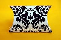 Free shipping !damask pillow wedding candy box/chocolate box/pillow box(11.4 x8.9 x 2.55cm)