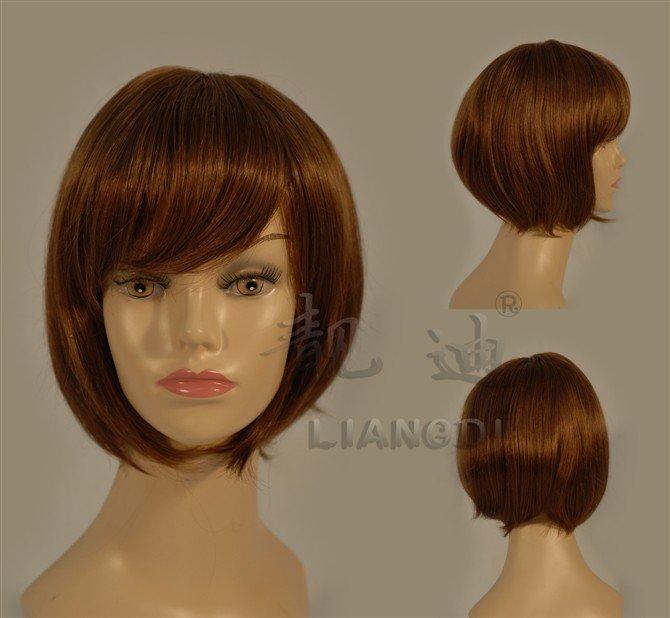 BOB-style-auburn-Straight-Bang-short-Straight-Wig-Wigs-free-shipping ...