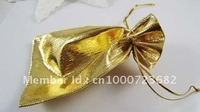 Free shipping  golden  Jewelry bag  50pcs/lot