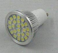 24pcs 5050 SMD led spotlight adopt high brightness LED, lumens: 340lm;GU10 base