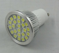 24pcs 5050 SMD led spotlight adopt high brightness LED, lumens: 340lm;GU10 base