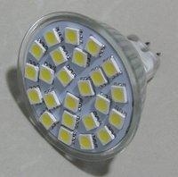 24pcs 5050 SMD led spotlight adopt high brightness LED, lumens: 340lm;MR16 base in glass housing