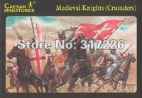 Freeshipping Wholesale Toy Figure Models Caesar Medieval Knights Crusaders set(24pcs)(1:72)(1inch)