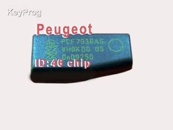 Peugeot key chip transponder ID46 Ceramic , Locksmith Tools transponder key shell(China (Mainland))