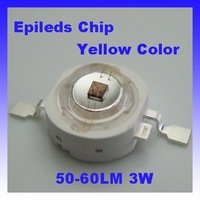high power LED Epileds chip 45mil 3w led lamp  50lm-60lm, Yellow color,wholesale and retail