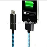 Flowing current flash USB connecting/charging cable