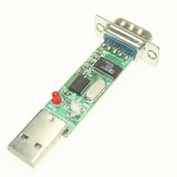 F638A5  5pcs/ Lot  USB to Serial Port RS232 9P DB9 Converter Adapter ch340T Chip Support Win7 Linux