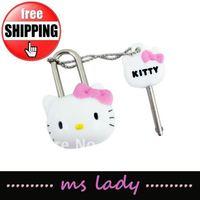 kid gift hello kitty lock free shipping 5pcs/lot HK airmail