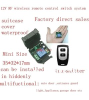 Free shipping+ 12V RF wireless remote control switch system( transmitter and receiver )/ 315MHZ/433MHZ