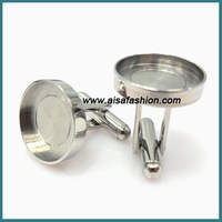 Free Shipping Blank Cufflinks in Stainless Steel