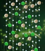 10meters/lot(The min order is 10 meters), AAA+/glass Crystal wheel bead Curtain!Divider/glass Beaded Strands,xl-01