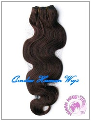 supper quality hair extensions, Indian remy hair, #4, body wave(China (Mainland))