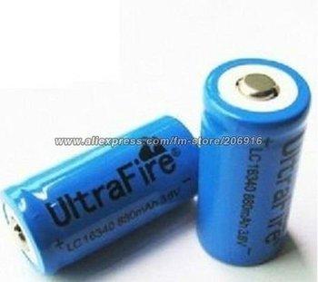 UltraFire 16340 880mAh 3.6V Li-ion Rechargeable Battery (A Pair)